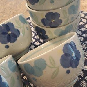 6 Japanese soup bowls